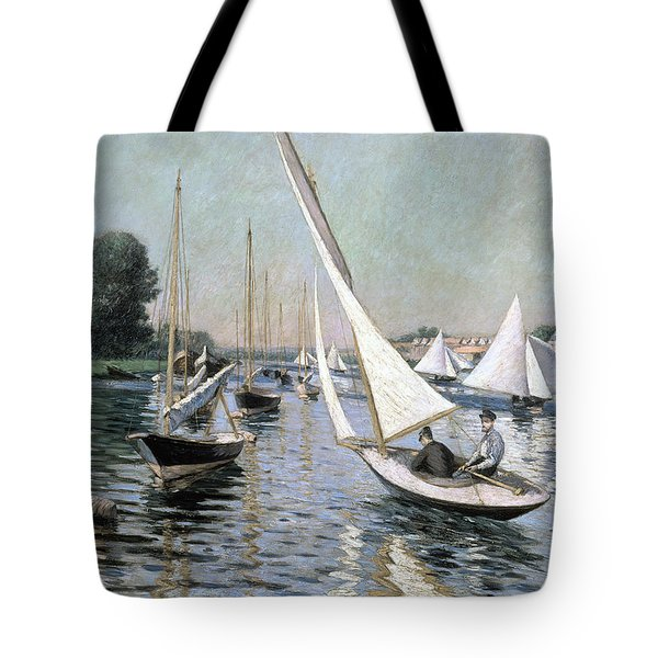 Regatta At Argenteuil Tote Bag by Gustave Caillebotte