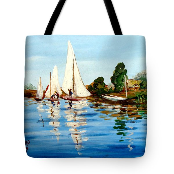 Regatta De Argenteuil Tote Bag by Karon Melillo DeVega