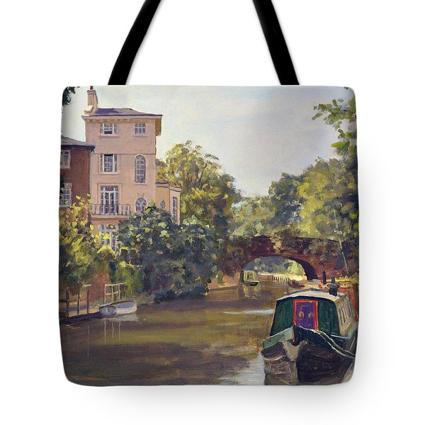 Regents Park Canal Oil On Canvas Tote Bag