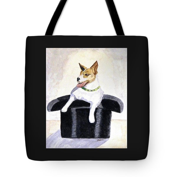 Reggie In A Top Hat  Tote Bag by Angela Davies