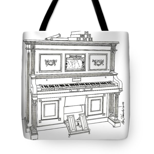 Regina Player Piano Tote Bag
