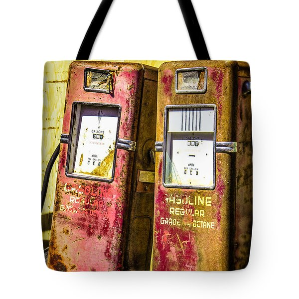 Tote Bag featuring the photograph Regular Gasoline by Steven Bateson