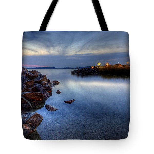 Rehoboth Bay Sunset At Dewey Beach Tote Bag