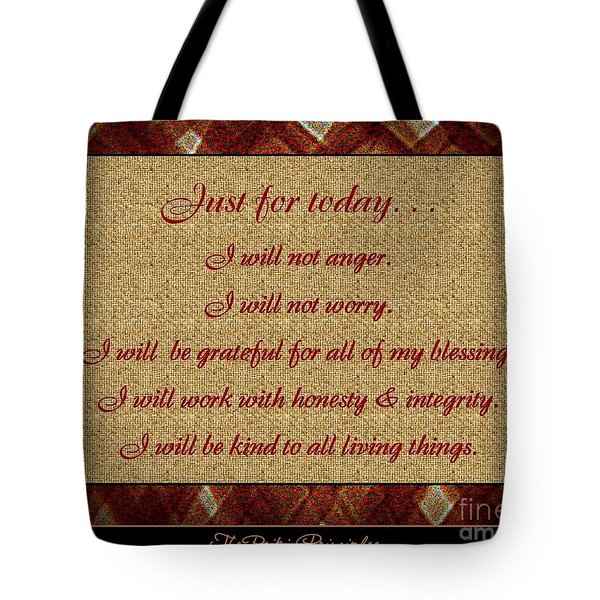 Reiki Principles Tote Bag