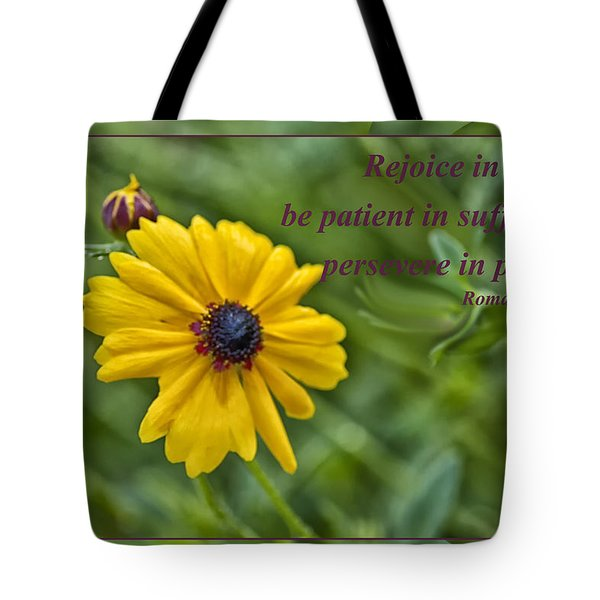 Rejoice In Hope Tote Bag