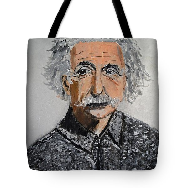 Tote Bag featuring the painting Relativity by Judy Kay