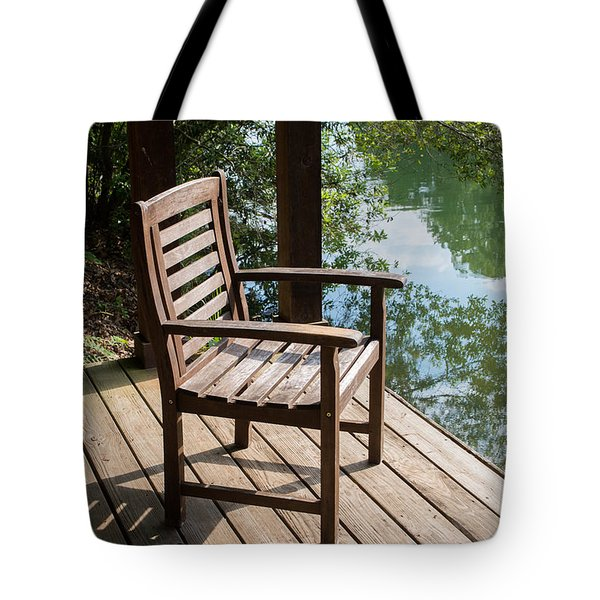 Alone By The Lake Tote Bag