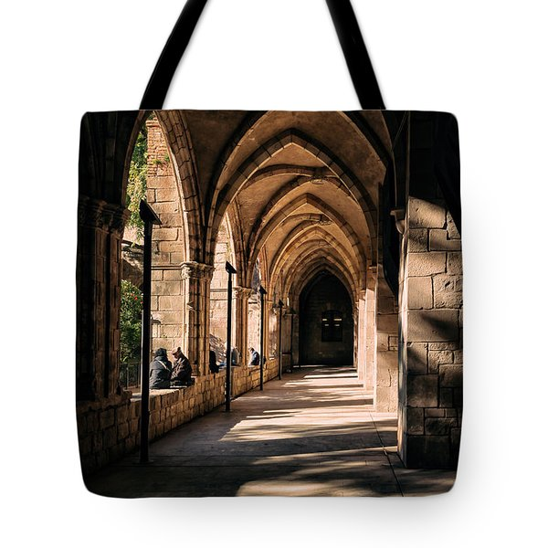 Relaxing In Barcelona Tote Bag