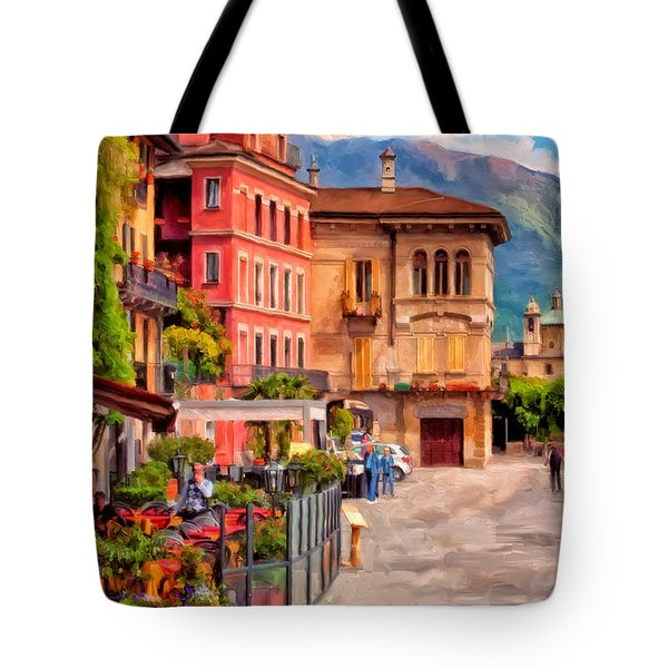 Relaxing In Baveno Tote Bag