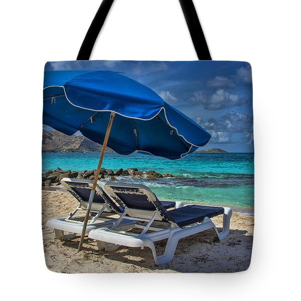Relaxing In St Maarten Tote Bag