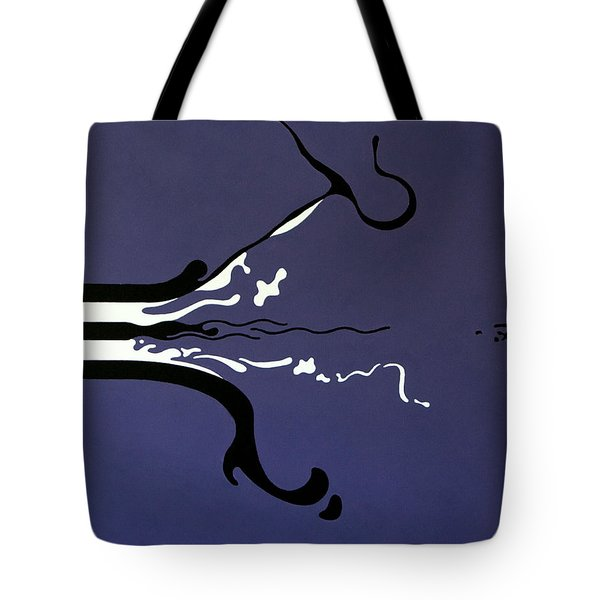 Tote Bag featuring the painting Release by Thomas Gronowski