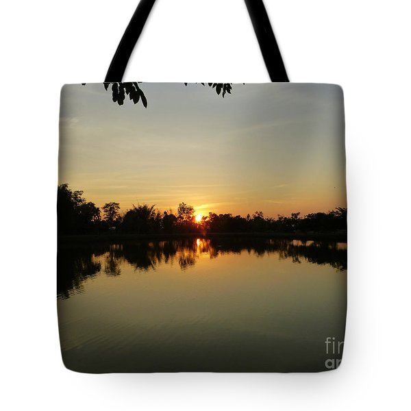 Reflections At Dusk Tote Bag