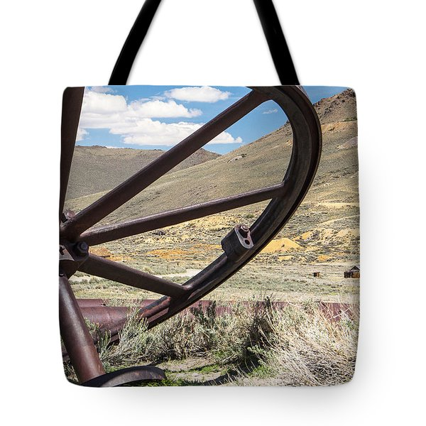 Tote Bag featuring the photograph Relics Of Bodie by Steven Bateson