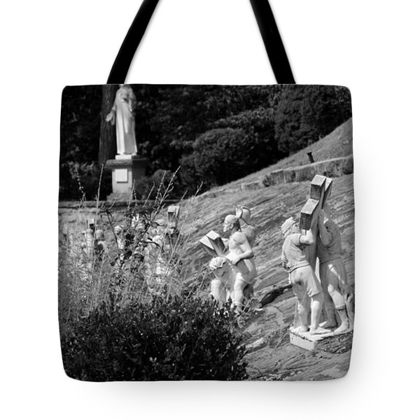 Religious Statues Tote Bag