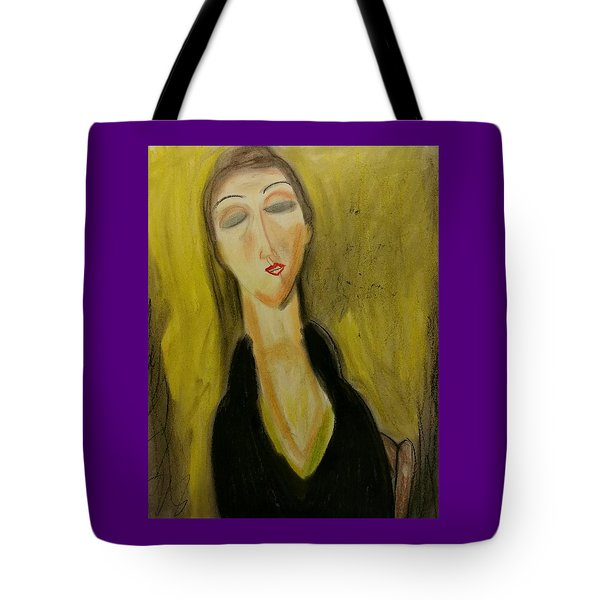 Sophisticated Lady With The Dreamy Eyes Tote Bag