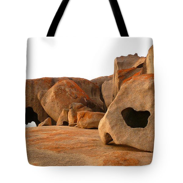 Tote Bag featuring the photograph Remarkable Rocks by Evelyn Tambour
