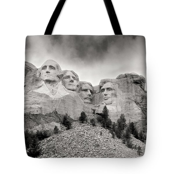 Remarkable Rushmore Tote Bag by Erika Weber