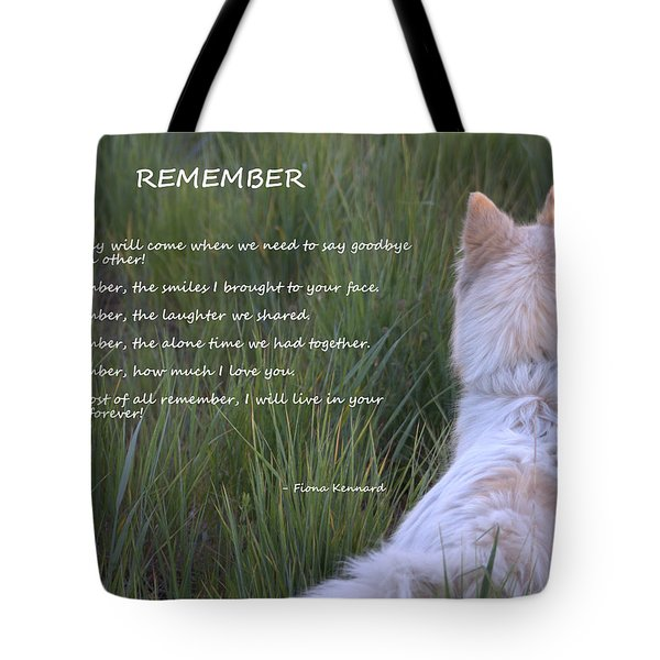 Remember Tote Bag by Fiona Kennard