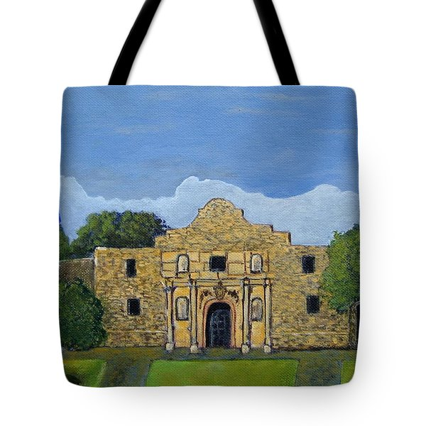 Tote Bag featuring the painting Remember The Alamo by Suzanne Theis
