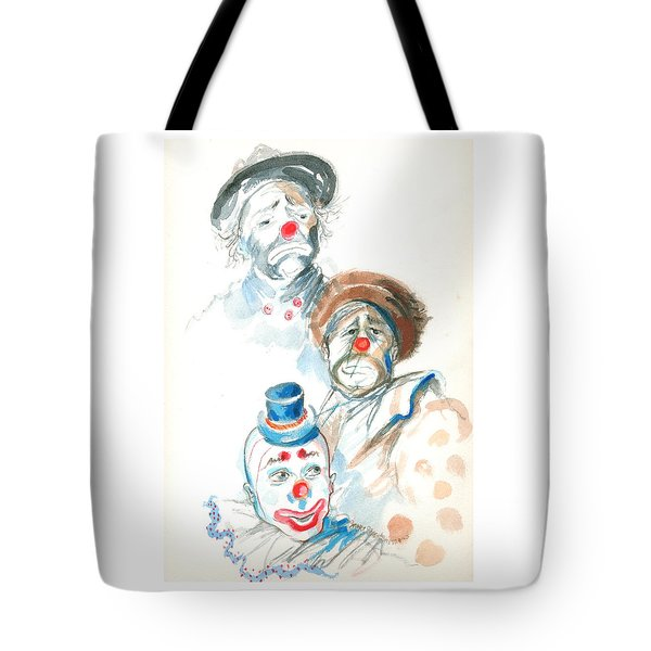 Remember The Clowns Tote Bag by Mary Armstrong