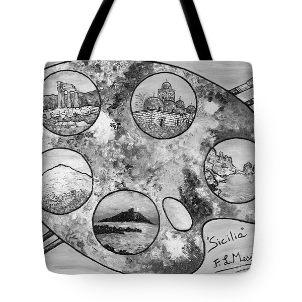 Tote Bag featuring the painting Remembering Sicily by Loredana Messina