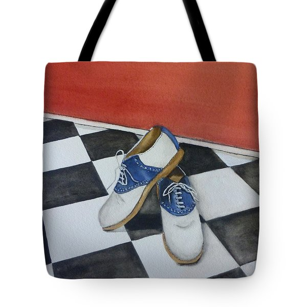 Remembering The Saddle Shoes Tote Bag by Kelly Mills
