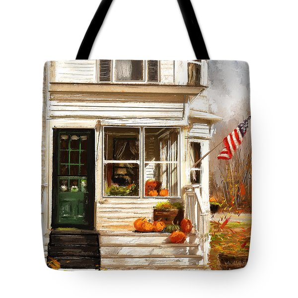 Remembering When- Porches Art Tote Bag