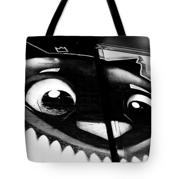 Tote Bag featuring the photograph Remembering Wonderland - Urban Cheshire Cat by Steven Milner