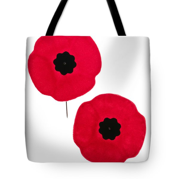 Remembrance Day Poppies Tote Bag by Elena Elisseeva
