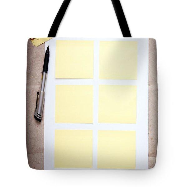 Reminder Notes Tote Bag by Tim Hester