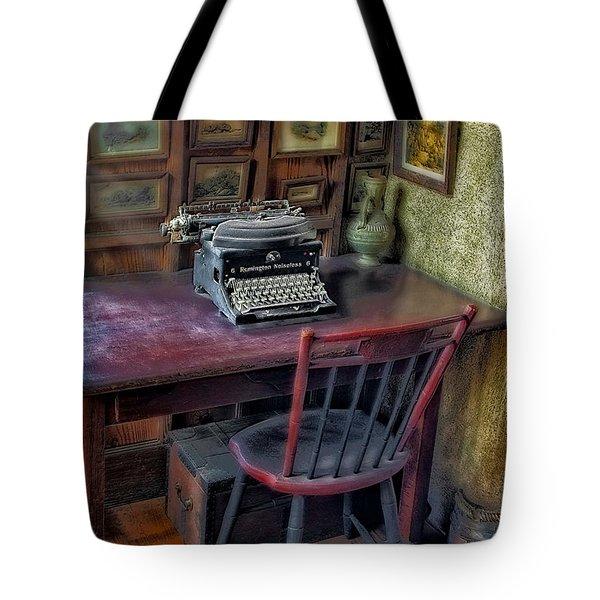 Remington Noiseless No 6 Typewriter Tote Bag by Susan Candelario