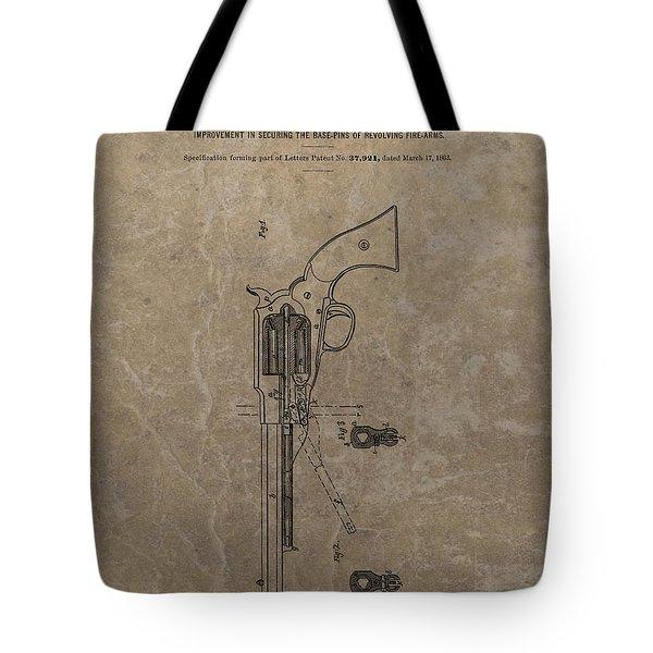 Remington Revolver Patent Tote Bag