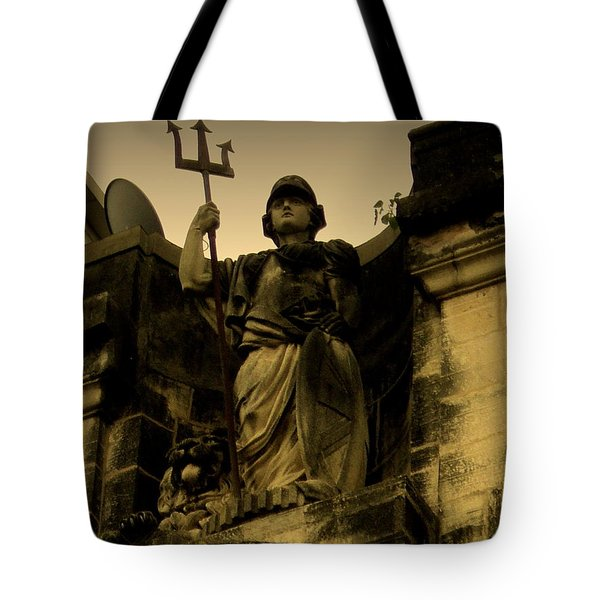 Trident To The Sky Tote Bag by Salman Ravish