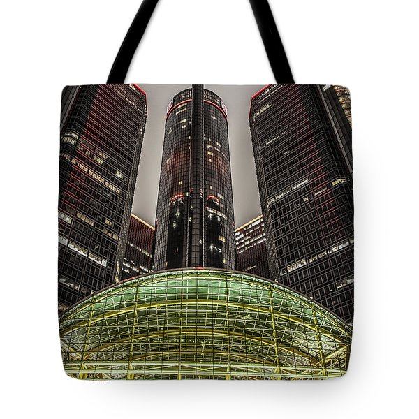 Renaissance Center Detroit Michigan Tote Bag