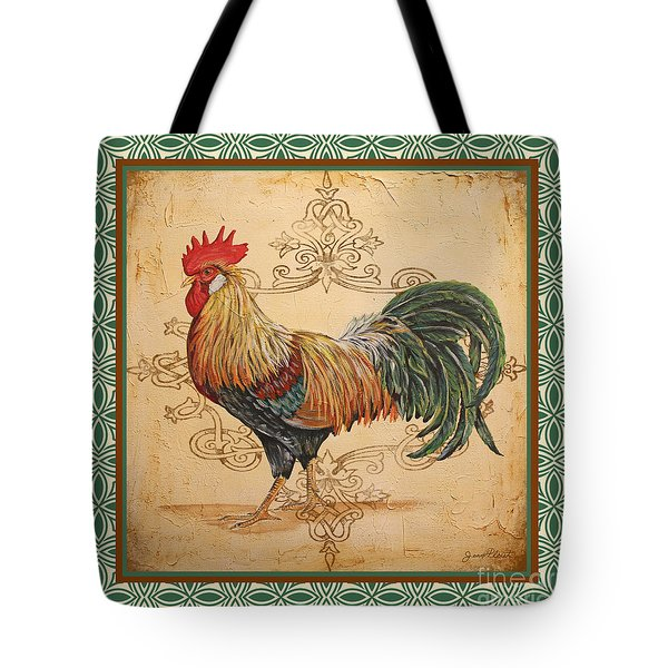Renaissance Rooster-a-green Tote Bag
