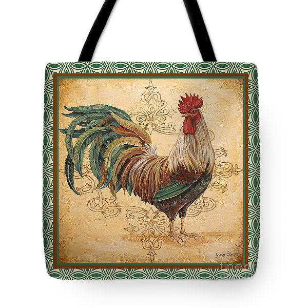 Renaissance Rooster-d-green Tote Bag