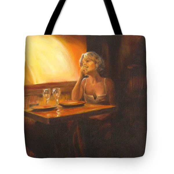 Rendevous At The Indian Restaurant Tote Bag