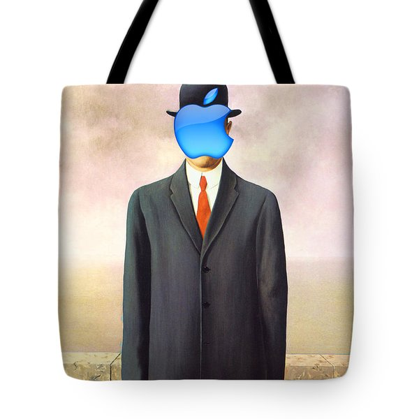 Rene Magritte Son Of Man Apple Computer Logo Tote Bag