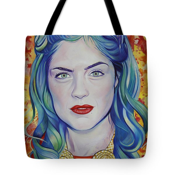 Tote Bag featuring the painting Rene Taylor by Joshua Morton