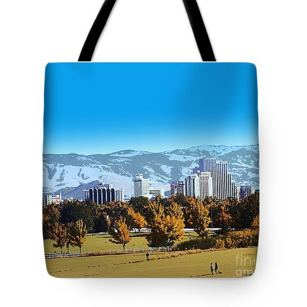 Reno Skyline From Rancho San Rafael Tote Bag