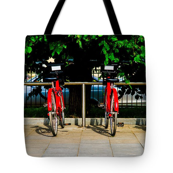Rent-a-bike - Featured 3 Tote Bag by Alexander Senin