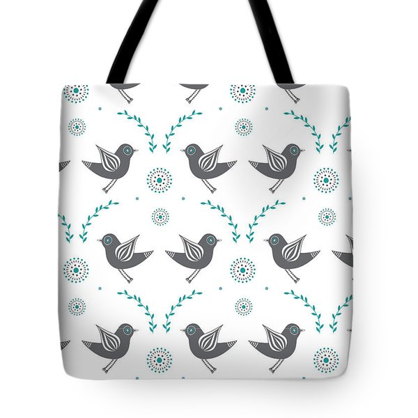 Repeat Lovebird Tote Bag by Susan Claire