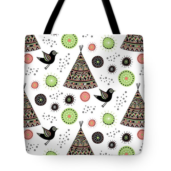 Repeat Print - Wild Night Tote Bag by Susan Claire