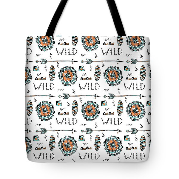 Repeat Print - Wild Tote Bag