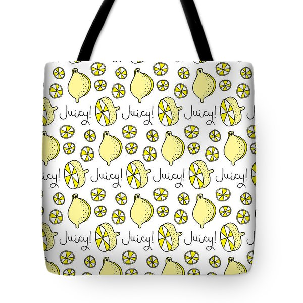 Repeat Prtin - Juicy Lemon Tote Bag
