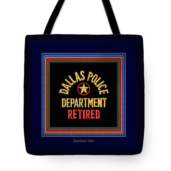 Replica D P D Patch - Retired With Epaulette Colors Tote Bag