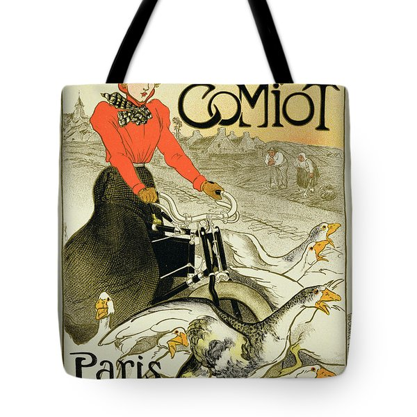 Reproduction Of A Poster Advertising Tote Bag