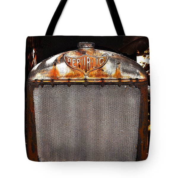 Republic Truck Grill Tote Bag