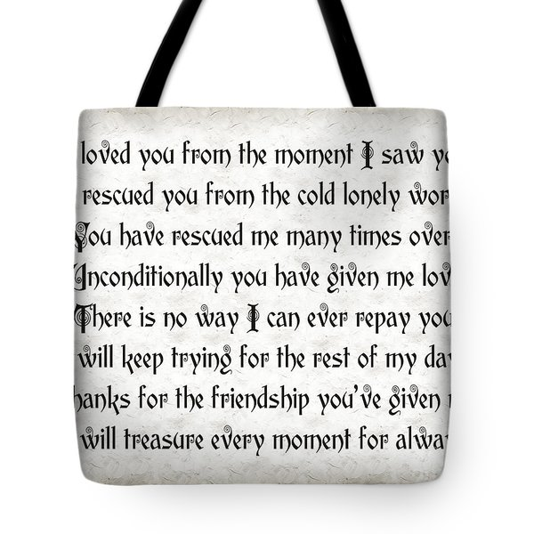 Rescue Love Tote Bag