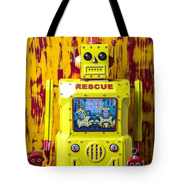 Rescue Robot Tote Bag by Garry Gay